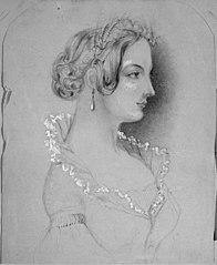 Pencil sketch of Adeline Absolon