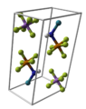 Pentafluorotellurium-imidoxenon-hexafluoroarsenate-unit-cell-3D-balls.png