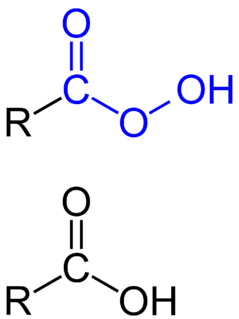 Peroxy acid any chemical compound in which an acidic –OH group has been replaced by an –OOH group
