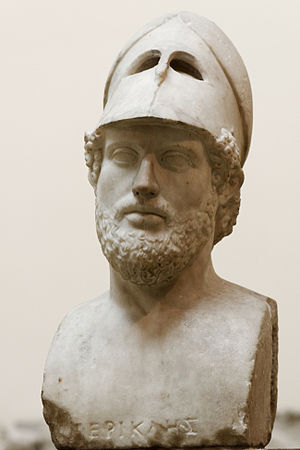 Pericles with the Corinthian helmet - Bust in the British Museum