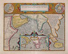Carta di Abraham Ortelius (1527-1598) con l'indicazione delle località menzionate dal Periplo del Mar Rosso