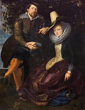 Isabella Brant - Image: Peter Paul Rubens (1574 1640) Rubens en Isabella Brant in een prieel van kamperfoelie Alte Pinakothek