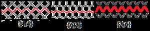 Skew apeirogon - Image: Petrie polygons of regular tilings