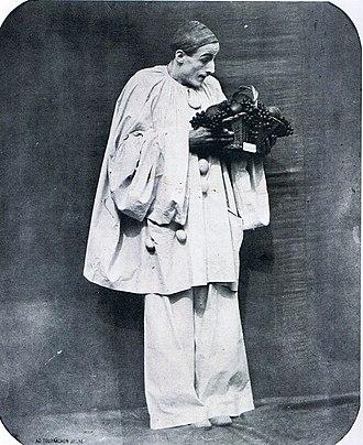 Cercle Funambulesque - Nadar: Charles Deburau as Pierrot, c. 1855.  Bibliothèque Nationale, Paris.
