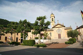 Vacallo - Image: Piazza municipio Vacallo