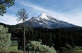 Volcán Citlaltépetl con 5,610 m de altura.