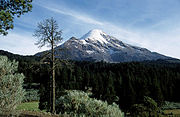 Vulkan Citlaltépetl oder Pico de Orizaba, höchster Berg Mexikos.