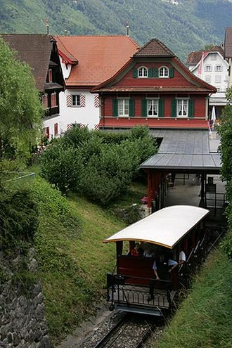Stans - Valley station of the Stanserhorn funicular