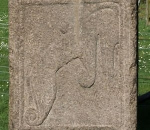 Pictish Beast - Maiden Stone, detail of eastern face.