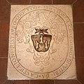 Pieve di cercina, canonica, ex-refettorio, stemma catellini da castiglione sul pavimento, 1690, 02.jpg