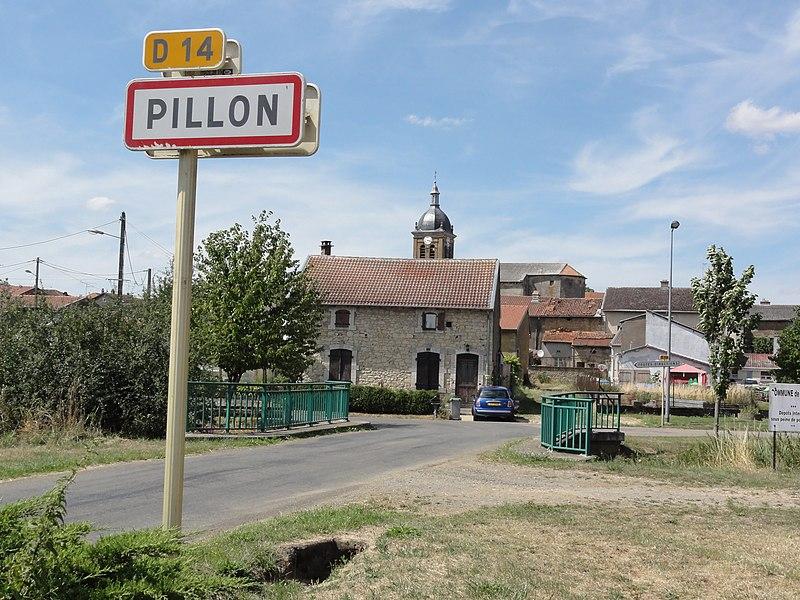 Pillon (Meuse) city limit sign