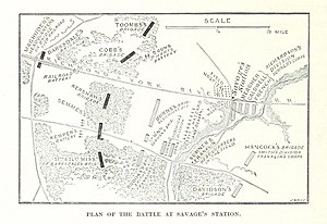 Battle of Savage's Station - Plan of the Battle of Savage Station