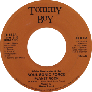 Planet Rock (song) 1982 single by Afrika Bambaataa and Soulsonic Force