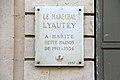 Plaque, 5 rue Bonaparte, Paris 31 August 2012.jpg