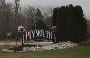 Plymouth, Wisconsin - City welcome sign