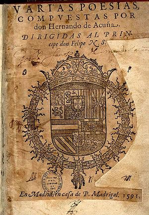 Hernando de Acuña - Hernando de Acuña's poems