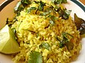 Poha, a snack made of flattened rice.jpg