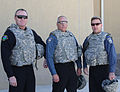 Police chiefs from the Colorado Springs, Colo., area pose for a photo at Kandahar Airfield, Afghanistan, Dec. 14, 2013, before meeting with local Afghan police leaders 131214-Z-MH103-002.jpg