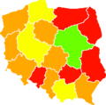 Polish parliamentary election 2007 voter turnout.png