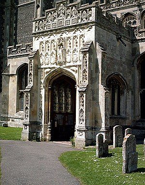 St Peter and St Paul's Church, Lavenham - The porch