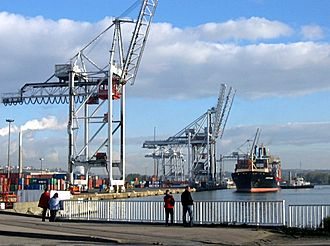 Container Terminal, near the Francois I lock. Port Havre 2.jpg