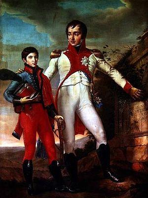 Louis Bonaparte - With son Napoleon Louis Bonaparte