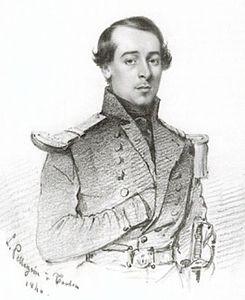 Portrait of René Gillotin by L. Pellegrin at Toulon in 1840.jpg