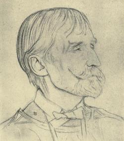 Portrait of t j cobden sanderson (1840 1922) by william rothenstein
