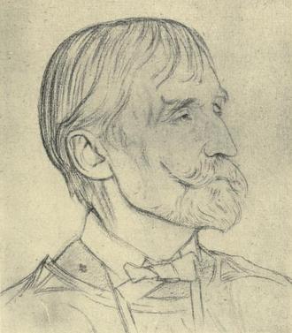T. J. Cobden-Sanderson - Portrait of Cobden-Sanderson by William Rothenstein