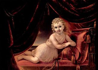 Francesco Anelli - Image: Portrait of a Child as Cupid by Francesco Anelli