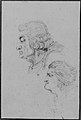 Portraits of Jean-Baptiste-Joseph Gobel (1727-1794), Bishop of Paris in 1792-93, and Pierre-Gaspard Chaumette (1763-1794), Procurator of the Commune in 1792, sketched on the way to the guillotine, April 12, 1794. MET 264948.jpg