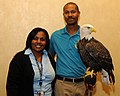 Posing for picture with Bald Eagle. (10595117395).jpg