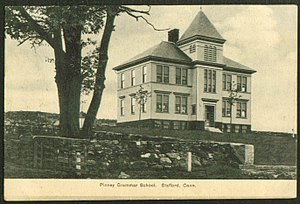 Stafford, Connecticut - Pinney Grammar School, about 1909