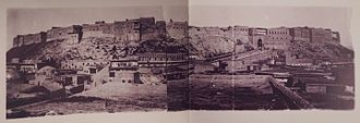 Erbil - A postcard showing the city of Erbil in 1900