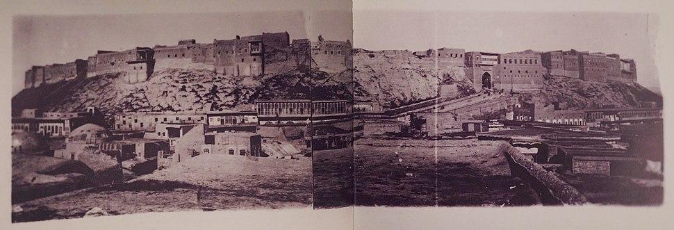 Postcard of the city of Erbil, 1900