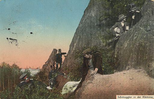 Postkarte Schmuggler 001