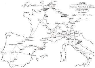 News - Some European postal routes in 1563