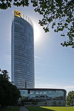 Post Tower, headquarters of the Deutsche Post AG and DHL.