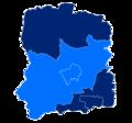 Powiat wołowski granice gmin i miast Wołów.png