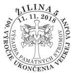 Príležitostná poštová pečiatka Žilina - Výsadba pamätných stromov.png