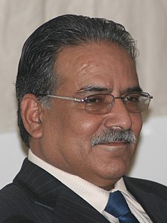 Pushpa Kamal Dahal Nepalese politician and former Prime Minister of Nepal