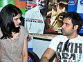 Prachi Desai, Emraan Hashmi at Promotion of 'Once Upon A Time In Mumbaai', Radio City 91.1 FM (8).jpg