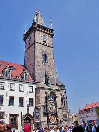 Prague astronomical clock - The clock tower