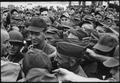 President Lyndon B. Johnson greets American troops in Vietnam, 1966., 1961 - 1974 - NARA - 542078.tif