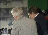 File:President Reagan throws out the First Pitch at a Chicago Cubs Baseball Game on September 30, 1988.webm