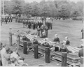 President Truman attending the burial of twenty soldiers at Arlington National Cemetery. These twenty are the first... - NARA - 199687.tif