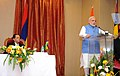 Prime Minister Narendra Modi making a statement to the media in Mauritius.jpg