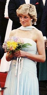 f8c16a2d87018 The Princess of Wales at the 1987 Cannes Film Festival. The strapless  Catherine Walker dress, which was inspired by a dress worn by Grace Kelly in  To Catch ...