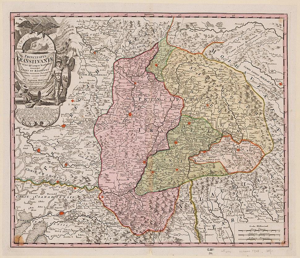 Principatus Transilvaniae in suas quasque nationes 1720