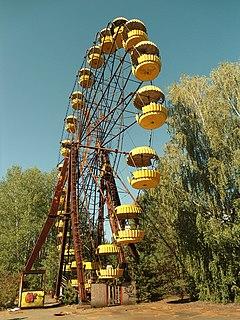 Pripyat amusement park amusement park closed down after Chernobyl disaster